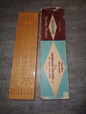Acme Cribbage Board - 3 Player - Very Good Condition