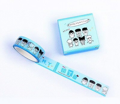 1PIC BANGTAN BOYS BTS Maksing Washi Tape DIY Scrapbook Stickers KPOP ZJD-BTS1