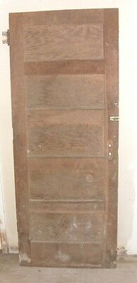 "Vintage Wood Interior Door Brown on both sides 80"" X 32"""