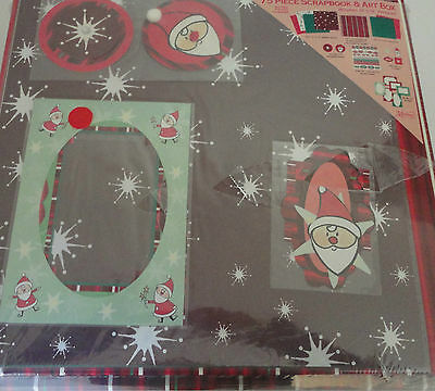 Christmas Scrapbook & Art Box 75 Piece Markings By C. R. Gibson Factory Sealed