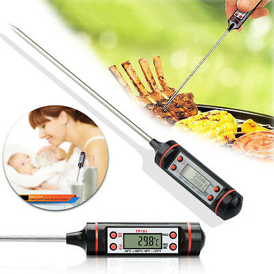 Digital Thermometer Probe Cooking Meat Cake Bbq Milk Water Temperature Indicator