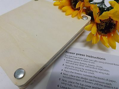 Dried Flower Press Kit craft set (Wooden with Instructions) -  17.5cm  x 17.5cm
