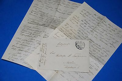 1918 World War, German Captain Field Post Vintage old Letter WWI, Antique L75