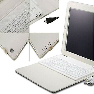 For Apple iPad Air 5th Gen Bluetooth Keyboard Wireless Leather Case Cover white