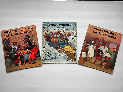 Uncle Wiggily Books  Set of 3    Howard R Garis   1939    Children's Books