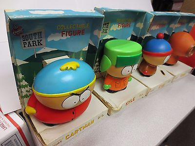All 4 1998 South Park Collector's Figures (Ruff Shape) Refer to Pictures