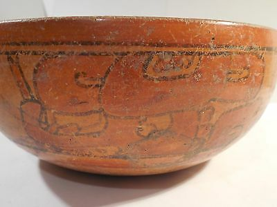 Nice Mayan Large Bowl Glyphs Pre-Columbian Archaic Ancient Artifact Olmec Toltec