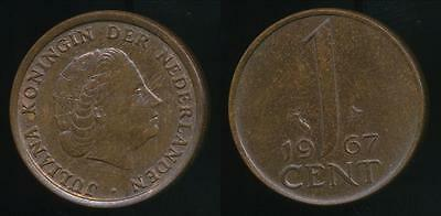 Netherlands, Kingdom, Juliana, 1967 1 Cent - Uncirculated