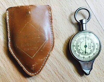 Vintage Hoffritz Opisometer Map Measure and Compass Germany with leather case