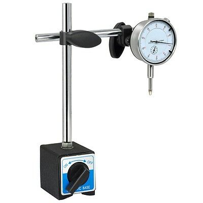 Dial Test Indicator 0.01mm DTI Gauge & Magnetic Base Stand Precision Clock
