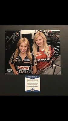 Courtney & Brittany Force Hot! Signed  NHRA 8x10 Photo Beckett BAS Cert