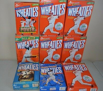 LOT 9 (UNOPENED) Cereal Box WHEATIES MARK MCGWIRE KEN GRIFFEY JR JACKIE ROBINSON