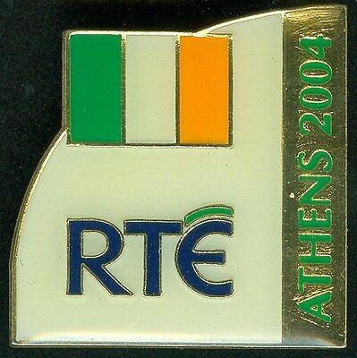 2004 Athens Greece Olympic Games - RTE Ireland TV broadcaster PIN