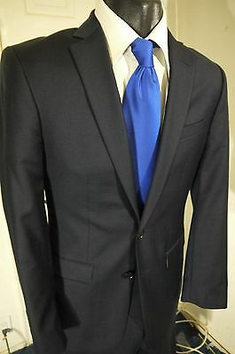 Suitsupply Super 110's Size 38R Dark Gray Pinstripe 2 Button Suit ...