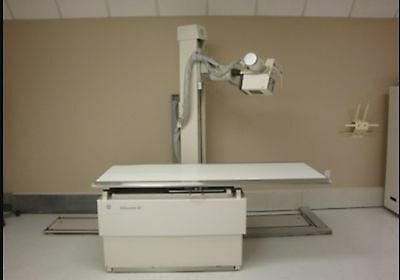 GE Silhouette X-ray System Single Phase 6 way Hi-Low Table Floor Mount Tubestand