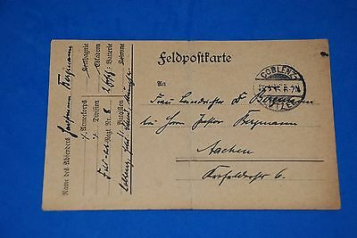 1918 World War German Captain Field Post Vintage Card old Letter WWI Antique 110