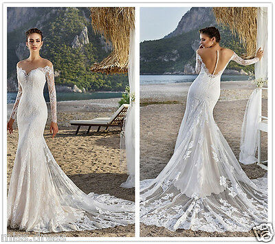GORGEOUS MERMAID WEDDING Dresses Sexy Backless Vintage Lace