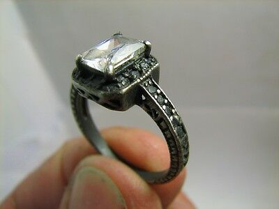 AUTHOR'S WORK ! VINTAGE STERLING SILVER RING with STONE ! 100% WEARABLE! #6246