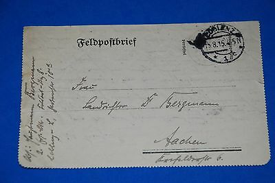 1918 World War German Captain Field Post Vintage Card old Letter WWI Antique 105