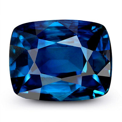 Natural 2.87Cts. Flawless Deep Royal Blue Sapphire Gemstone from Ceylon Unheated