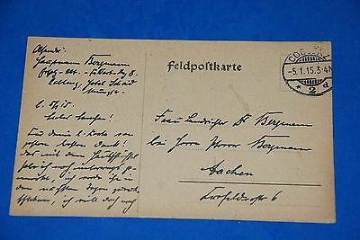 1918 World War German Captain Field Post Vintage Card old Letter WWI Antique 101