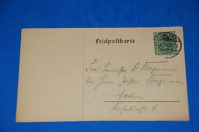 1918 World War German Captain Field Post Vintage Card old Letter WWI Antique 100