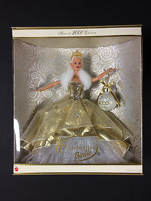 """Barbie"" Mattel Holiday Celebration Special Year 2000 Edition Doll #28269 - New"