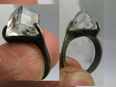 NICE VINTAGE STERLING SILVER RING with STONE! 100 WEARABLE ! #6255