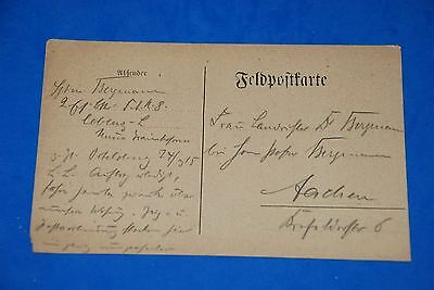 1918 World War German Captain Field Post Vintage Card old Letter WWI Antique c98