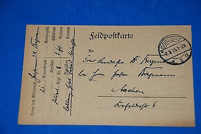 1918 World War German Captain Field Post Vintage Card old Letter WWI Antique c97
