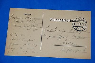 1918 World War German Captain Field Post Vintage Card old Letter WWI Antique c96