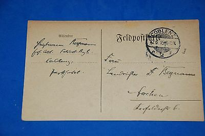 1918 World War German Captain Field Post Vintage Card old Letter WWI Antique c95