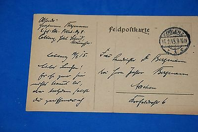 1918 World War German Captain Field Post Vintage Card old Letter WWI Antique c93