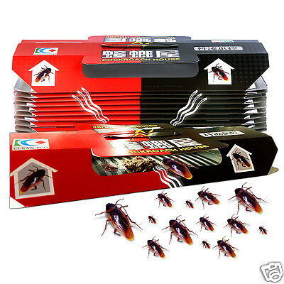 10Pcs Safety Non-Toxic Cockroaches Bugs Sticky Trap House Cockroach Bait Killer