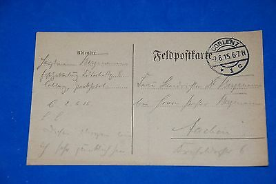 1918 World War German Captain Field Post Vintage Card old Letter WWI Antique c92