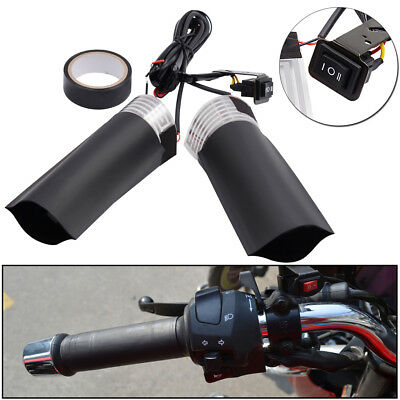 Handlebar Heated Grip Pads 15W*2 High/Low/Off for 12V Motorcycles Scooters