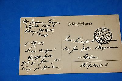 1918 World War German Captain Field Post Vintage Card old Letter WWI Antique c90