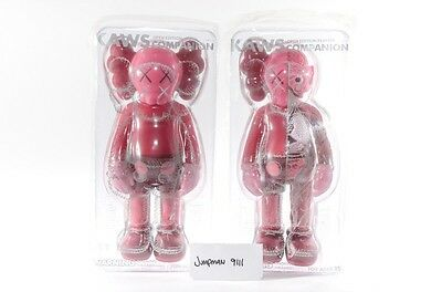 NEW SEALED SET OF 2 KAWS Companion Red Blush (Open Edition) Flayed - IN HAND