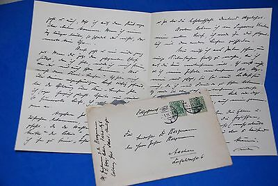 1918 World War, German Captain Field Post Vintage old Letter WWI, Antique L81