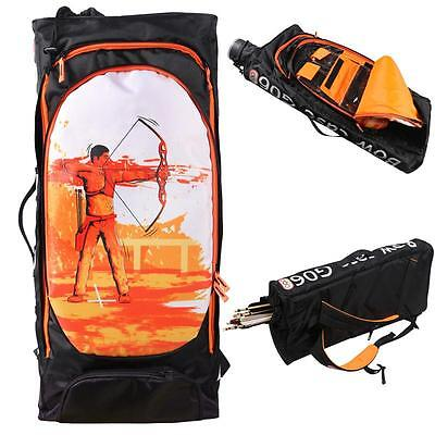 Compound Bow Case Straps Shoulder Carry Bag Arrow Shooting Hunting Target Cover