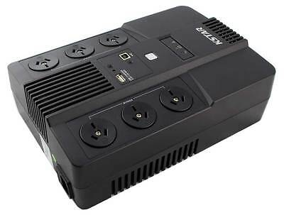 800VA / 480W Line-Interactive UPS with USB Charger Battery Backup
