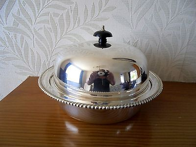 Lovely Vintage Silver Plated Muffin Dish-Atkins Brothers
