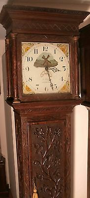 """Antique  Oak Automation Windmill """"Coventry""""  Longcase / Grandfather Clock"""