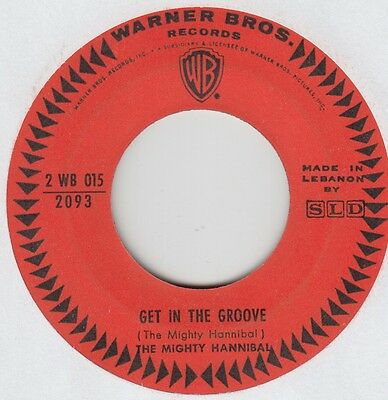 """THE MIGHTY HANNIBAL """"Get In The Groove"""" Rarest Lebanese  SLD WBros promo."""