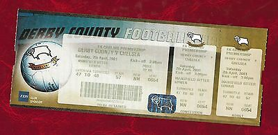 2000/1 Derby County v Chelsea complete ticket