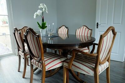 Reproduction antique dining table with 8 chairs