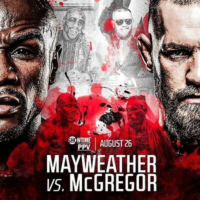 Floyd Mayweather Vs Conor McGregor Event Poster Boxing MMA UFC 11x17 Top Loader