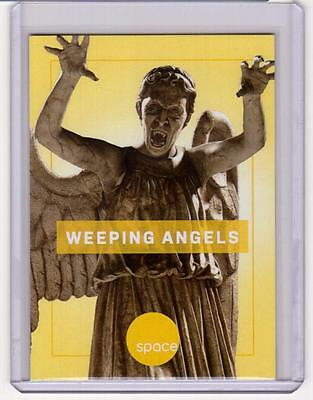 WEEPING ANGELS Doctor Who SpaceDeck Space Channel Promo Card RARE Stone Statues
