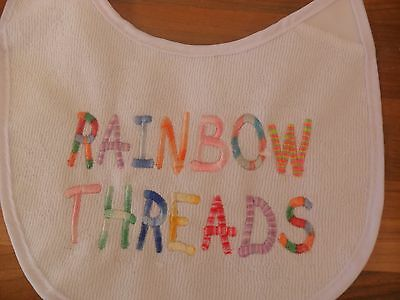 Personalised embroidered Baby bib 4 multi coloured  ANY NAME or blank