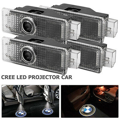 4x BMW CREE LED PROJECTOR CAR DOOR LIGHTS SHADOW PUDDLE COURTESY LASER LOGO